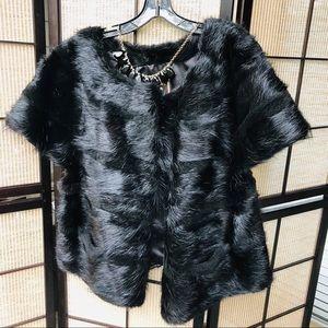 Real nutria fur jacket
